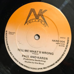 Tell Me What's Wrong – Paul And Karen